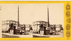 G. Sommer STEREO Italie Rome Fontaine de: Photographie originale /