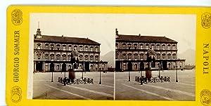 Giorgio Sommer STEREO Italie Naples Palais: Photographie originale /