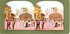 Stereo, Entrance to the Pike from Plaza St. Louis at Louisiana Purchase Exposition, 1904