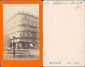 Marseille, Grand Hôtel: Photographie originale /