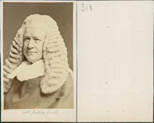 Justice Lush, Sir Robert Lush (1807?1881) was: Photographie originale /