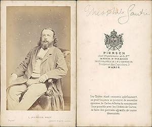 Pierson, Théophile Gautier: Photographie originale /
