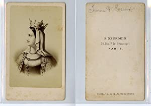E. Neurdein, Jeanne d'Évreux d'après un dessin: Photographie originale /