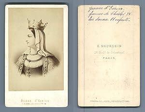 Jeanne d'Evreux, femme de Charles IV: Photographie originale /