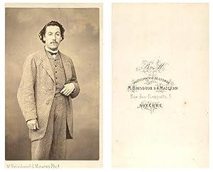 M. Brisdoux et A. Mazeran, Un homme: Photographie originale /