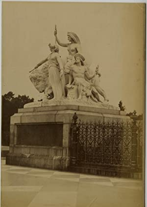 Angleterre, Londres, London, Albert Memorial, groupe sculptural Ame?rique