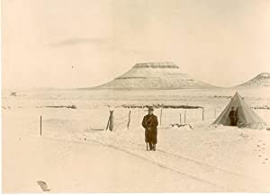 South Africa, Boers War. Military Camp covered with snow