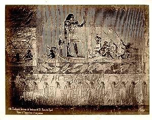 Sébah. Egypte, Zakkarah, Intérieur du tombeau de: Photographie originale /