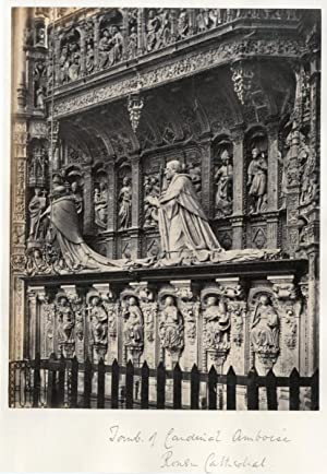 Frith Series. France. Tomb of the Cardinal Amboise in the Rouen Cathedral, ca. 1875