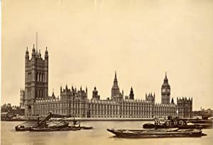 Stereoscopic. Royaume-Uni, London, houses of parliament