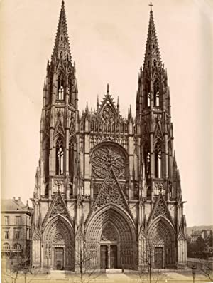 France, Rouen, Eglise saint-Ouen, Vue de face