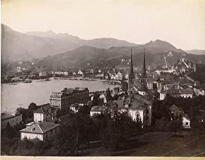 Sommer. Suisse, Luzern, panorama