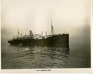 British Navy, Ship T.S.S. Hobson Bay: Photographie originale /