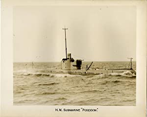 """British Royal Navy, H.M. Submarine """"Poseidon"""", Parthian-class: Photographie originale /"""