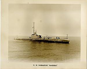 "British Royal Navy, H.M. Submarine ""Pandora"", British: Photographie originale /"
