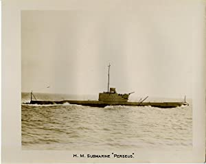 "British Royal Navy, H.M. Submarine ""Perseus"", British: Photographie originale /"
