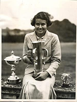 Great Britain, Mlle. Vagliano (France), winner of the Girls Open Golf Championship