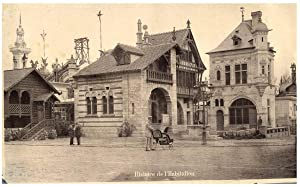 France, Paris, Exposition universelle de 1889, chalet scandinave