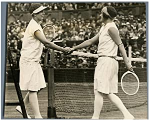 UK, Wimbledon, Miss Helen Wills and Miss E. Goldsack