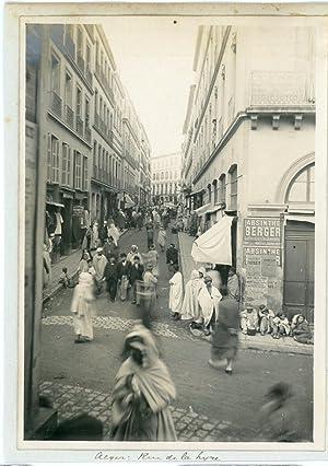 Algérie, Alger, Rue de la Lyre: Photographie originale / Original photograph