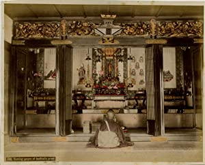 Japon, Morning prayer of buddhist's priest, Togushu