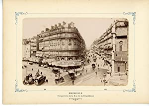 France, Marseille, Perspective de la Rue de la République