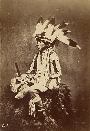 USA, American Indian Native (Amérindien). Na Za: Photographie originale /
