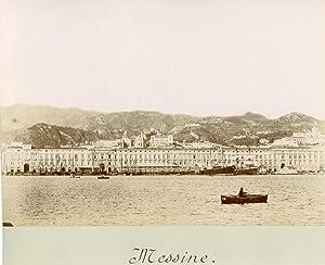 Italie, Messine, Sicile, le port, navires de: Photographie originale /