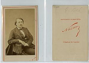 Nadar, L'illustrateur, graveur, peintre et sculpteur français: Photographie originale /