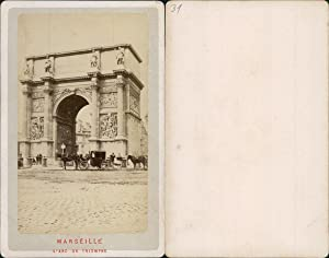 France, Marseille, l'Arc de Triomphe