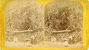 STEREO, Colombie, Chipagana, Ruisseau El Bano, Darien Expedition by Commodore Selfridge, 1870 vin...