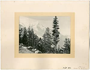 France, Chamonix, ascension du Montenvert, vue générale