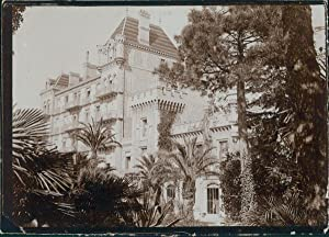 France, Nice, Maison bourgeoise, ca.1900, Vintage citrate print