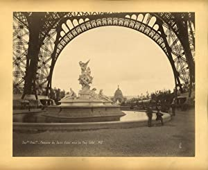 Paris, Exposition de 1900, Fontaine de Saint Vidal à la Tour Eiffel