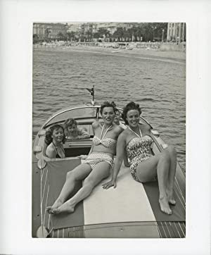 Dora Doll, Bella Darvi et Gloria Graham à Cannes, 1956