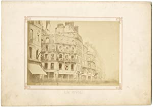 France, Paris, rue de Rivoli incendiée, la Commune de Paris 1871