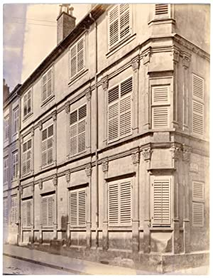 France, Nancy, façade de maison, ornements typique