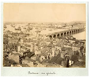 France, Bordeaux, vue panoramique de la ville