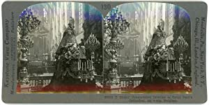 Stereo, Keystone View Company, T Richly Ornamented Interior of Saint Paul s Cathedral, An werp, B...