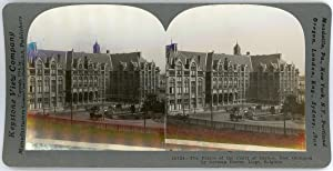 Stereo, Keystone View Company, The Palace of the Court of Justice, Now Occupied by German Forces,...