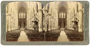 Stereo, Underwood & Underwood Publishers, Interior of the Cathedral Brussels, Belgium