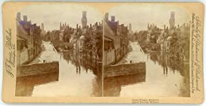 Stereo, J. F. Jarvis Publisher, Underwood & Underwood, Canal Bruges, Belgium