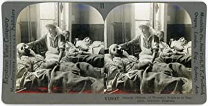 Stereo, Keystone View Company, Ghastly Glimpse of Wounded Belgians in Hospital, Antwerp, Belgium