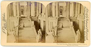Stereo, J. F. Jarvis Publisher, Underwood & Underwood, The Grand Stairway, Palace of Justice, Bru...