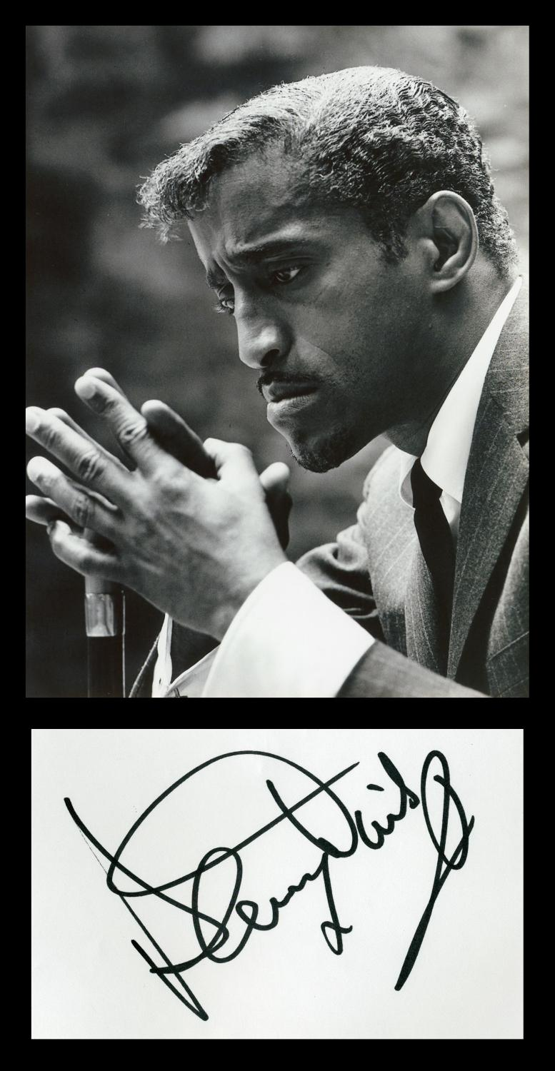 Sammy_Davis_Jr_19251990__Rare_autograph__Photo__Paris_1985_Sammy_Davis_Jr_19251990__American_singer_musician_dancer_actor_vaudevillia
