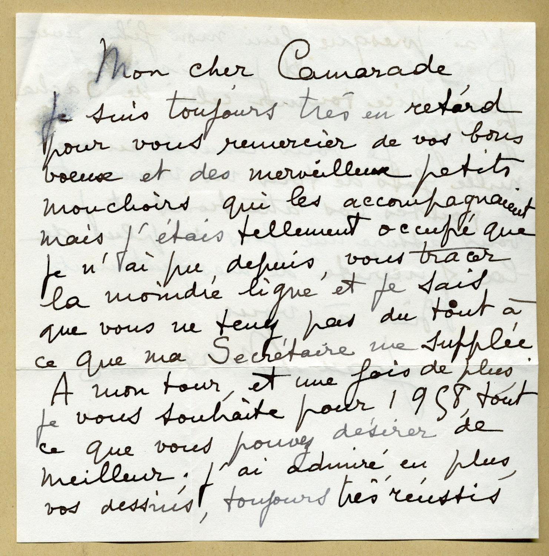 Jean_Marais_19131998__Rare_belle_lettre_autographe_signée_en_1958__2_pages_Jean_Marais_19131998__Acteur_français_Bon