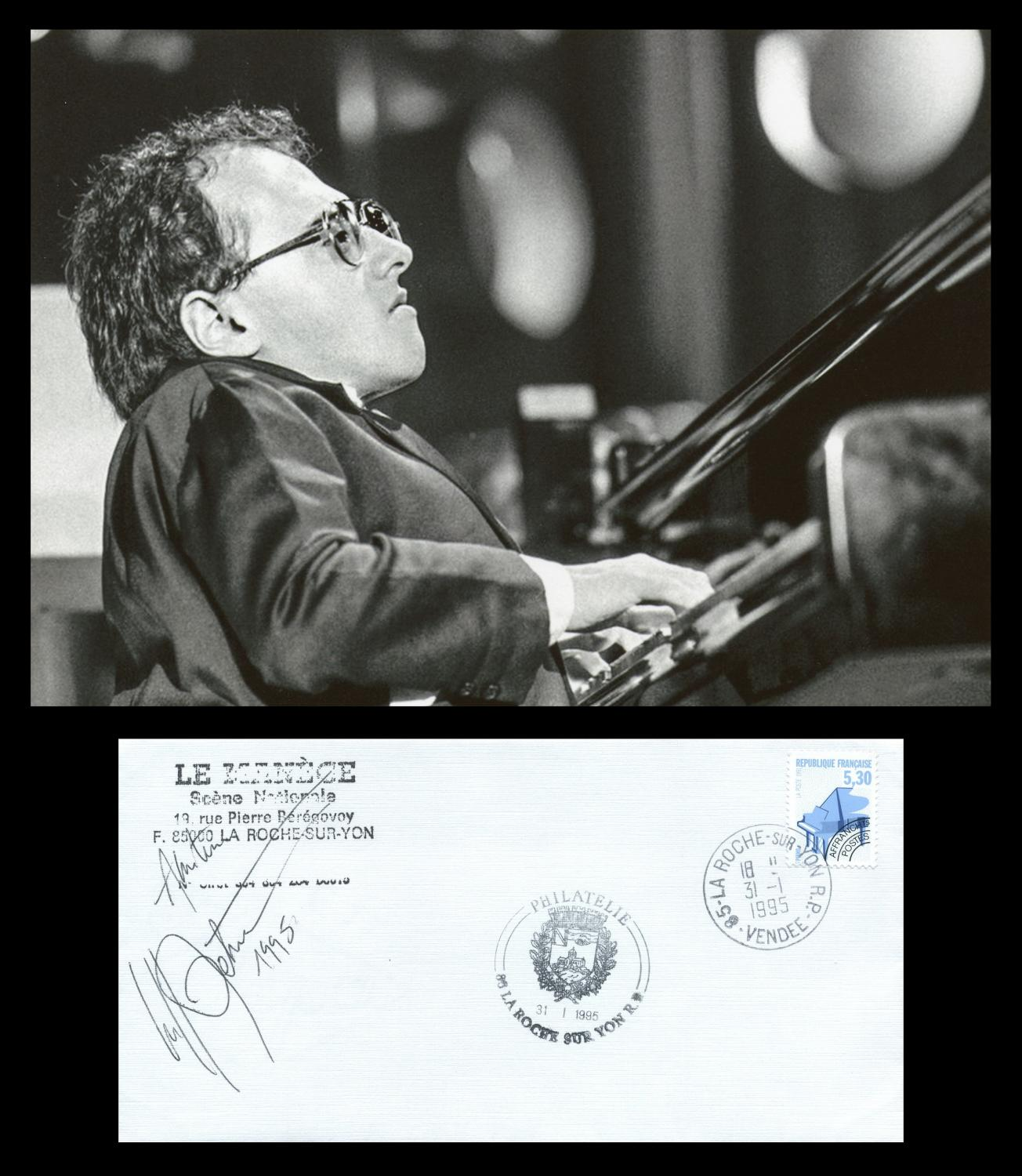 Michel_Petrucciani_19621999__Rare_signed_FDC__Photo_Michel_Petrucciani_19621999__French_jazz_pianist_Très_bon