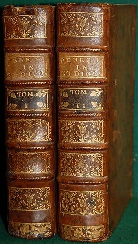 PRÆLECTIONES IN DUODECIM LIBROS CODICIS JUSTINIANI IMP.: PEREZ (Antoine)