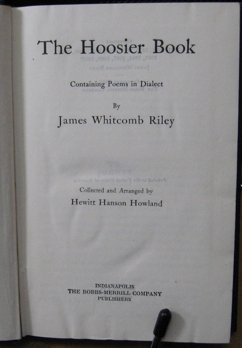 james whitcomb riley poems