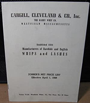 Cargill, Cleveland & Co., Whips and Lashes